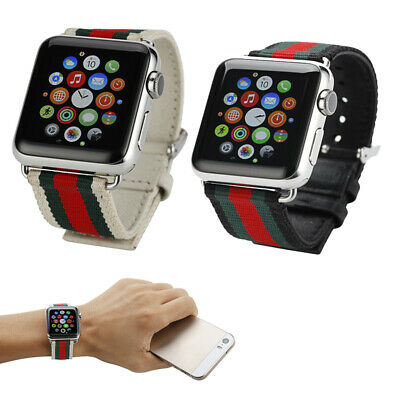 Sports Leisure Canvas Wristwatch Band Strap Bracelet For Apple Watch 38/42mm CR
