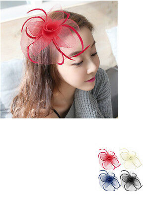 Large Headband Aliceband Hat Fascinator Weddings Ladies Day Race Flower Hair l0