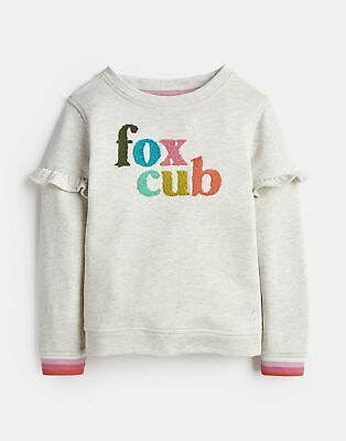 Joules Girls Tiana Mini Me Sweatshirt 3 12 Years in OAT MARL