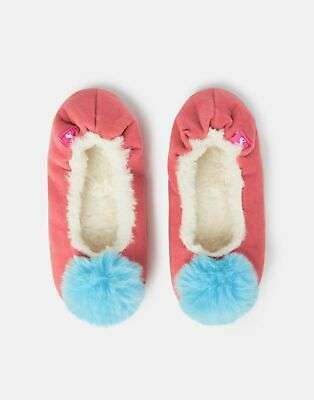 Joules Girls Pombury Ballet Slippers in SOFT PINK MOUSE