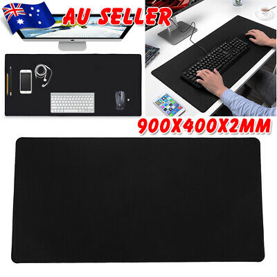 90x40cm Large Mousepad Black Non-Slip Gaming Mouse Pad Keyboard Office Desk Mat