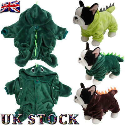 ✨Pet Winter Clothes Dog Cat Puppy Dinosaur Hooded Jumpsuit Costume Coat Jacket✨