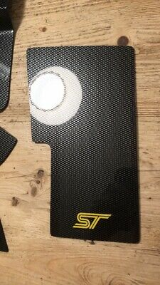 FORD FOCUS St Mk3 & Mk2 FACELIFT ST FUSE BOX COVER CARBON FIBRE EFFECT