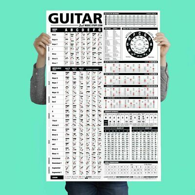 Ultimate Guitar Chord Chart Vertical Poster Scales Theory Chords Reference Guide