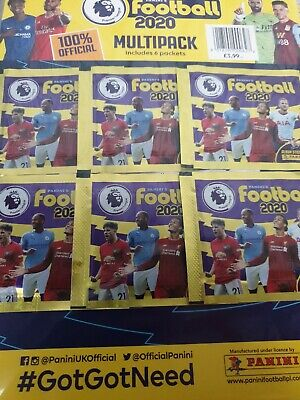 Panini Football Premier League 2020 Multipack Official Sticker  NEW&SEALED