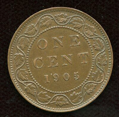 1905 Canada One Cent - Large Penny - Nice AU