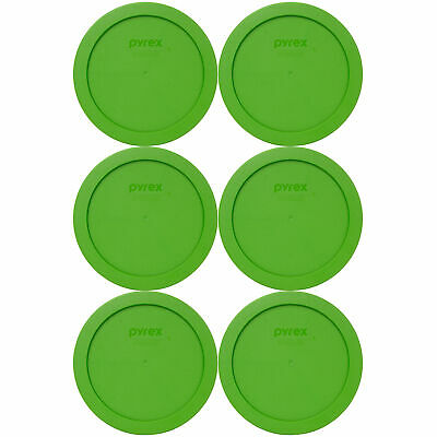 Pyrex 7201-PC Lawn Green Plastic Storage Replacement Lid Cover (6-Pack)