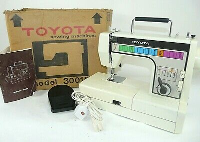 Vintage Toyota Model 3001D Boxed With Instructions Sewing Machine