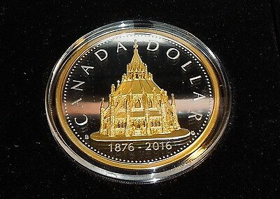 Huge 50mm 2016 Canada MASTER's Renewed Silver Dollar Library Parliament $1 COIN