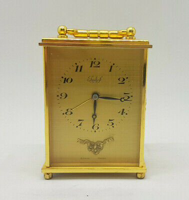 Vintage Imhof Brass Carriage Clock Small
