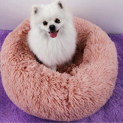 Pet Dog Cat Warm Plush kennel Calming Bed Round Nest Comfy Sleeping Cave Hot 6A