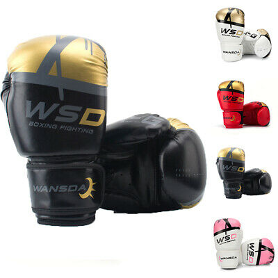 Mitts Boxing Gloves Kickboxing UFC WANSDA Sparring MMA Punch Bag Training