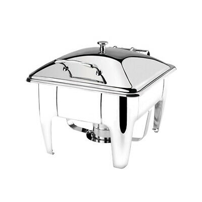 Athena Induction Chafer Dish Rect 1/2 Stainless Steel Lid w Stand Fuel Heated
