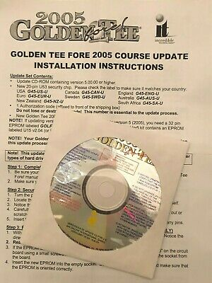 Golden Tee Fore Arcade 2005 Update Software and Instructions