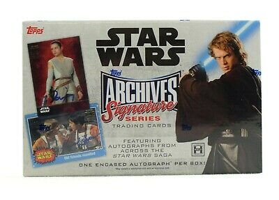2018 Topps Star Wars Archives Signature Series Hobby Box - 1 Autograph Per box
