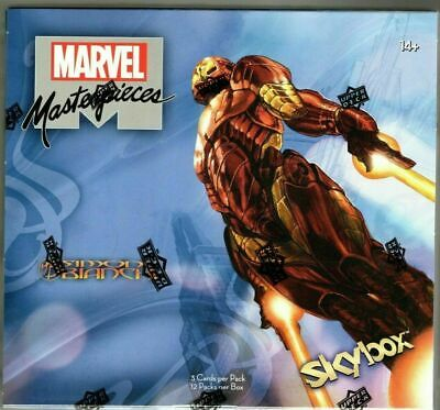 2018 Upper Deck Marvel Masterpieces Factory Sealed 12 Box Hobby Case