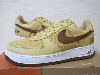2003 NIKE AIR FORCE 1 NYC CORDUROY GOLD DUSTBISON WHITE 306509 721 size 11