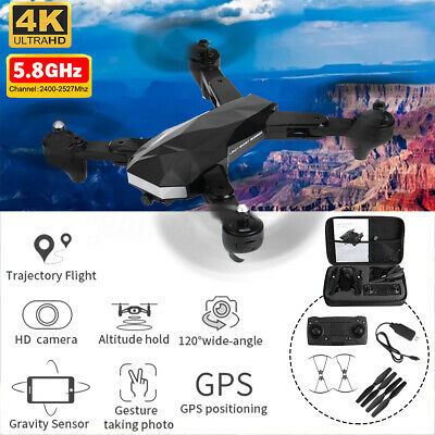 RC Drone GPS 5.8G With Wifi FPV 4K HD Camera Foldable Arm RC Quadcopter Aircraft