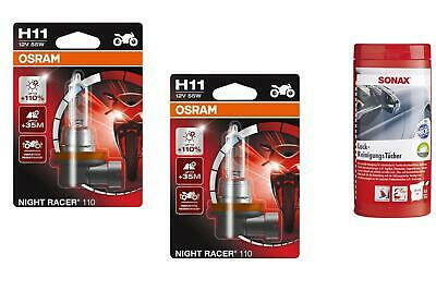 110 maximum performance Alogena Lampada Fanale Moto Nuovo OSRAM NIGHT RACER