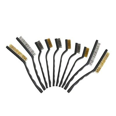 5X(Wire Brush Set Scratch Brush Set for Cleaning Welding Slag Rust and Dust Curv