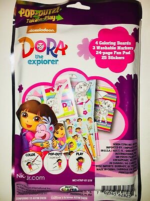 Nickelodeon Dora The Explorer Pop Outz Coloring Boards and Stickers Grab Bag Toy