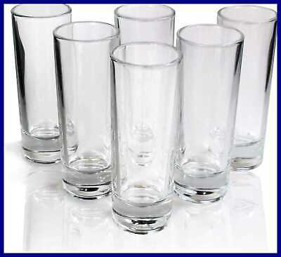 Tequila Tall Shot Glasses Heavy Base Crystal Clear Drinking Glass Set Of 6