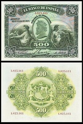 Facsimil Billete 500 Pesetas de Enero 1907 - Reproduction
