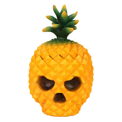 Resin Pineapple Skull Heads Small Tools Storage Box for Home Decor Ornaments