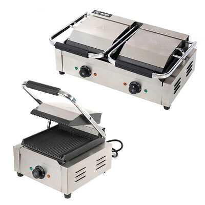 Panini Press Grill Commercial Sandwich Maker for Waffle Grilled Burgers Steaks