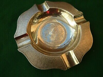Very Rare Wai Kee Sterling Silver Made In Hong Kong Ashtray