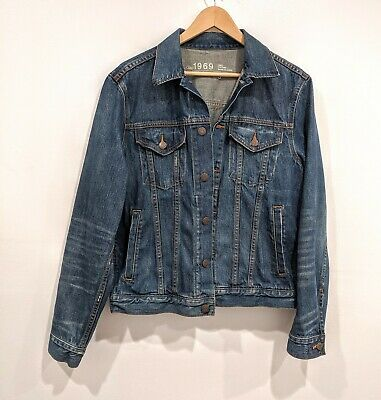 Gap 1969 Men's Size Small S Heritage Denim Jean Trucker Jacket Button Front