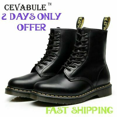 2019 NEW Dr Martens 8-Eye Classic Airwair 1460 Leather Ankle Boots shose