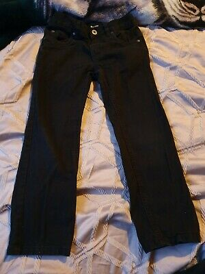 Very Boy's Black Straight Leg Jeans Age 7 Years