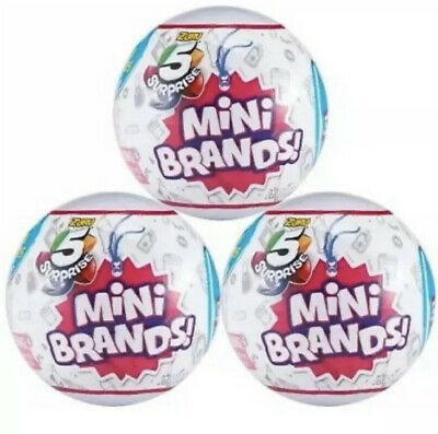 5 Surprise Mini Brands Zurich Surprise Ball LOT OF 3 Collectable Capsule Hot Toy