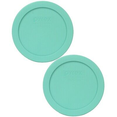 Pyrex 7200-PC Sea Glass Blue/Green Plastic Round Replacement Lid (2-Pack)