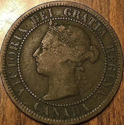 1887 Canada Large Cent Penny Large 1 Cent Coin