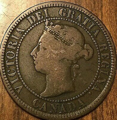 1890 H Canada Large Cent Penny Large 1 Cent Coin