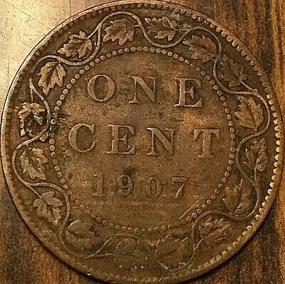 1907 Canada Large Cent Penny Large 1 Cent Coin