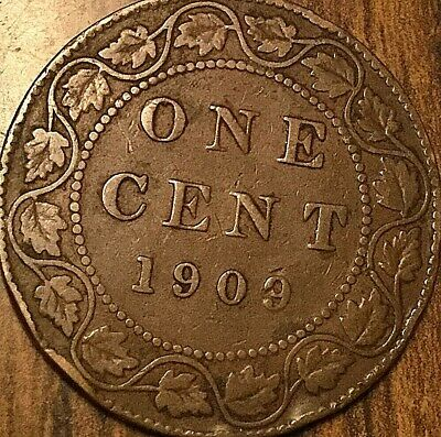 1909 Canada Large Cent Penny Large 1 Cent Coin