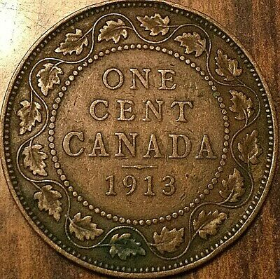 1913 Canada Large Cent Penny Large 1 Cent Coin