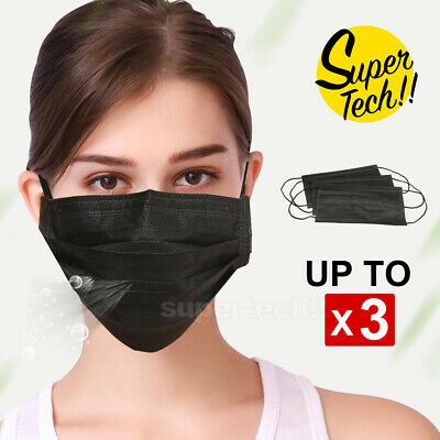 3x Active Carbon Filter Protective Mouth Face Ear Loop Safe AU Stock