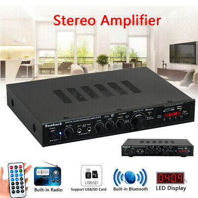 2000W Power Audio HiFi Amplifier Surround Stereo SD For Theater Karaoke Cinema