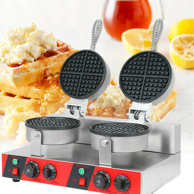 "7.3"" Double Waffle Maker Non-Stick Commercial Catering Kitchen Waffle Machine"