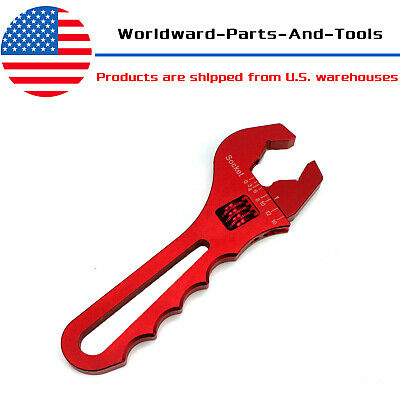 3AN-16AN Adjustable RED AN Wrench Fitting Tools Aluminum Spanner Hand Tool