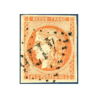 France N°48 Type Cérès 40C Orange, Timbre Oblitéré -- 1870