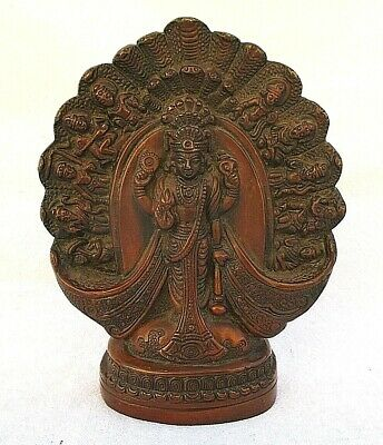 Rare Vintage Standing Shiva? W/ 10 Figures Copper/Bronze Statue Or Wall Hanging