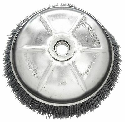 """Weiler 6"""" Crimped Wire Cup Brush, Arbor Hole Mounting, 0.040"""" Wire Dia. 1-1/4"""""""