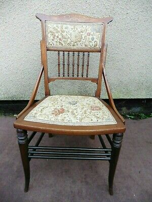 Antique Edwardian Inlaid Mahogany Bedroom Chair, Nursing Chair, Circa 1900/10.