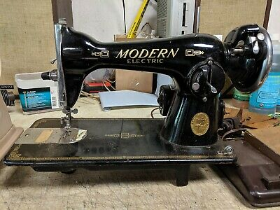 Vintage Modern De Luxe Electric Sewing Machine