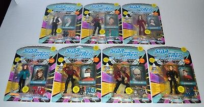 1992 STAR TREK Next Generation Playmates (7) piece MINT action figure collection
